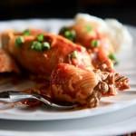 Кальмары фаршированные с рисом