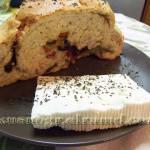 Греческий хлеб с оливками