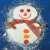 Новогодний кекс Снеговик
