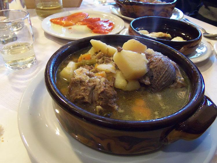 Суп из козьего мяса в Мецово
